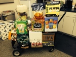 Photo of cart of snacks and beverages