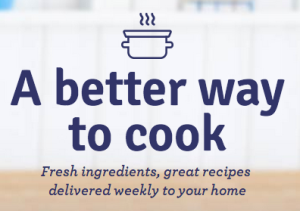 Screen grab of Blue Apron value proposition - A better way to cook